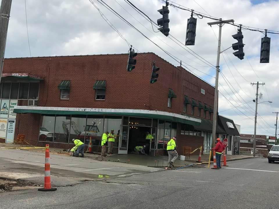 State works on sidewalks