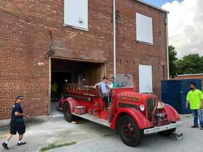 Fire truck moved to historical society museum for exhibit