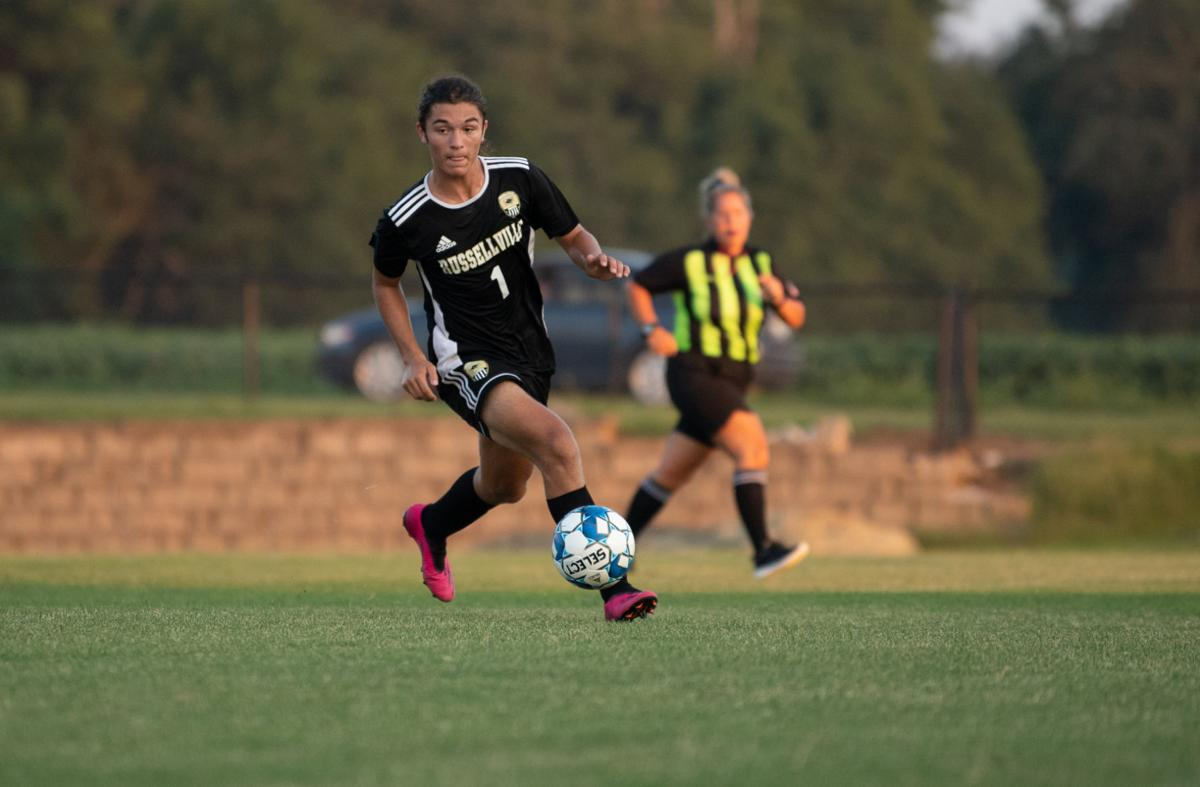 Russellville Soccer Plays Hard Against Franklin Simpson