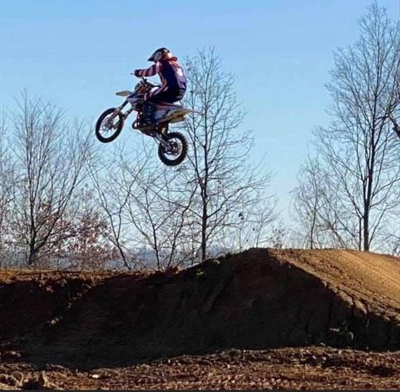 Johnson excels in motocross