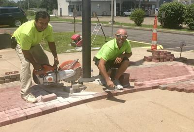 Work begins on Veteran Plaza project at post office