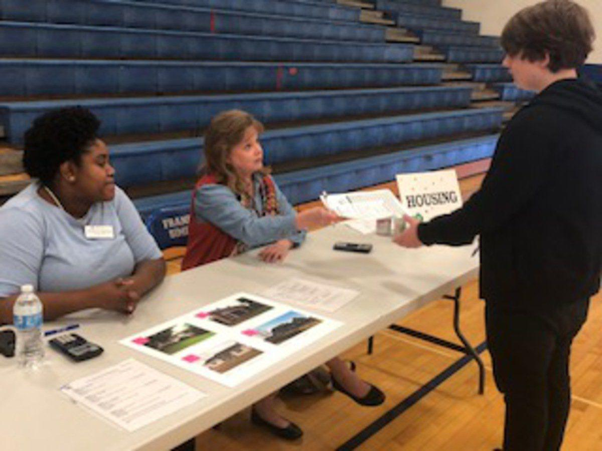 Eighth-graders explore careers with Reality Store