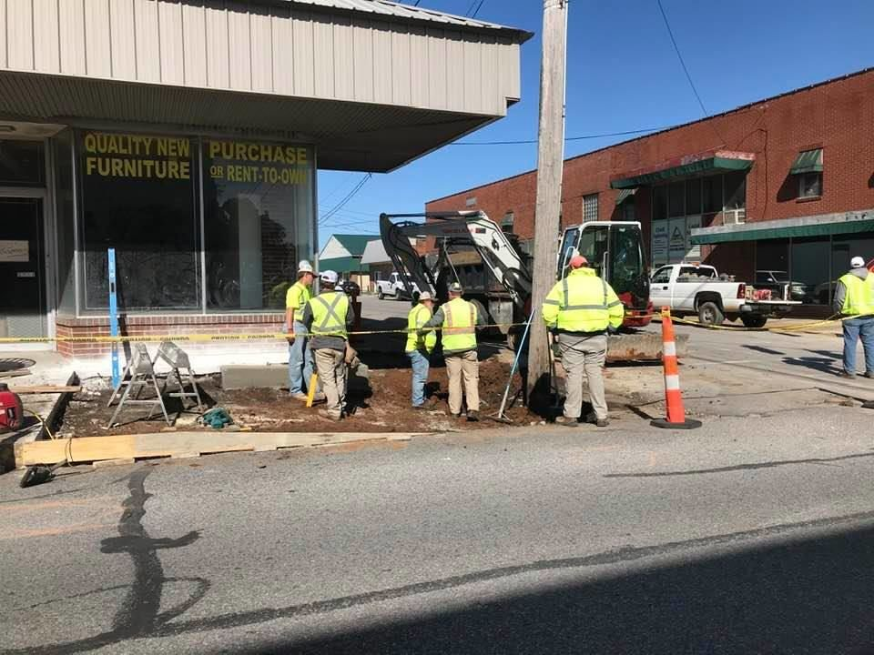 State works on sidewalks