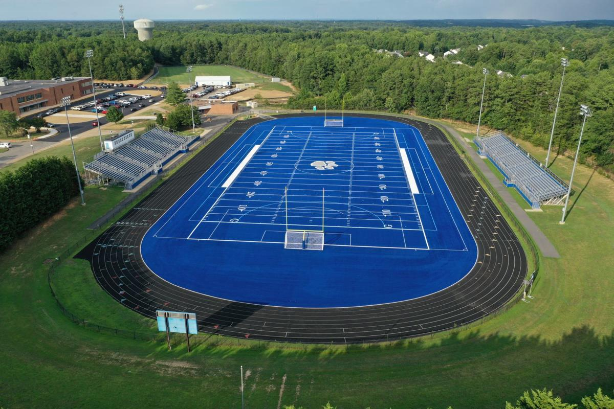 Courtland High School Football Turf Aerial View