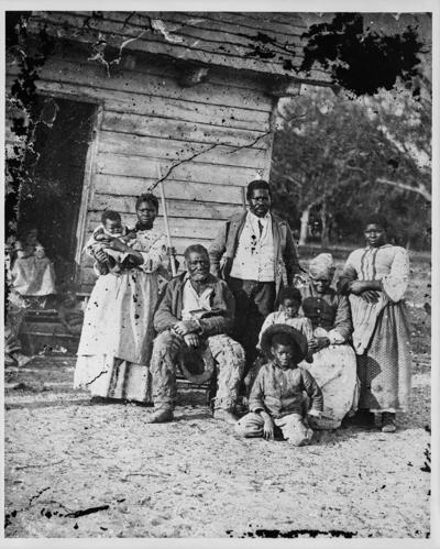 Five generations at J.J. Smith plantation in Beaufort, S.C.