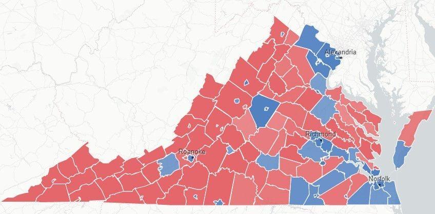 PHOTO:VA 2020 election results