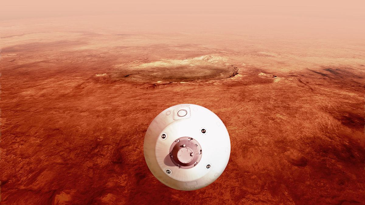 Mars 2020 guided entry