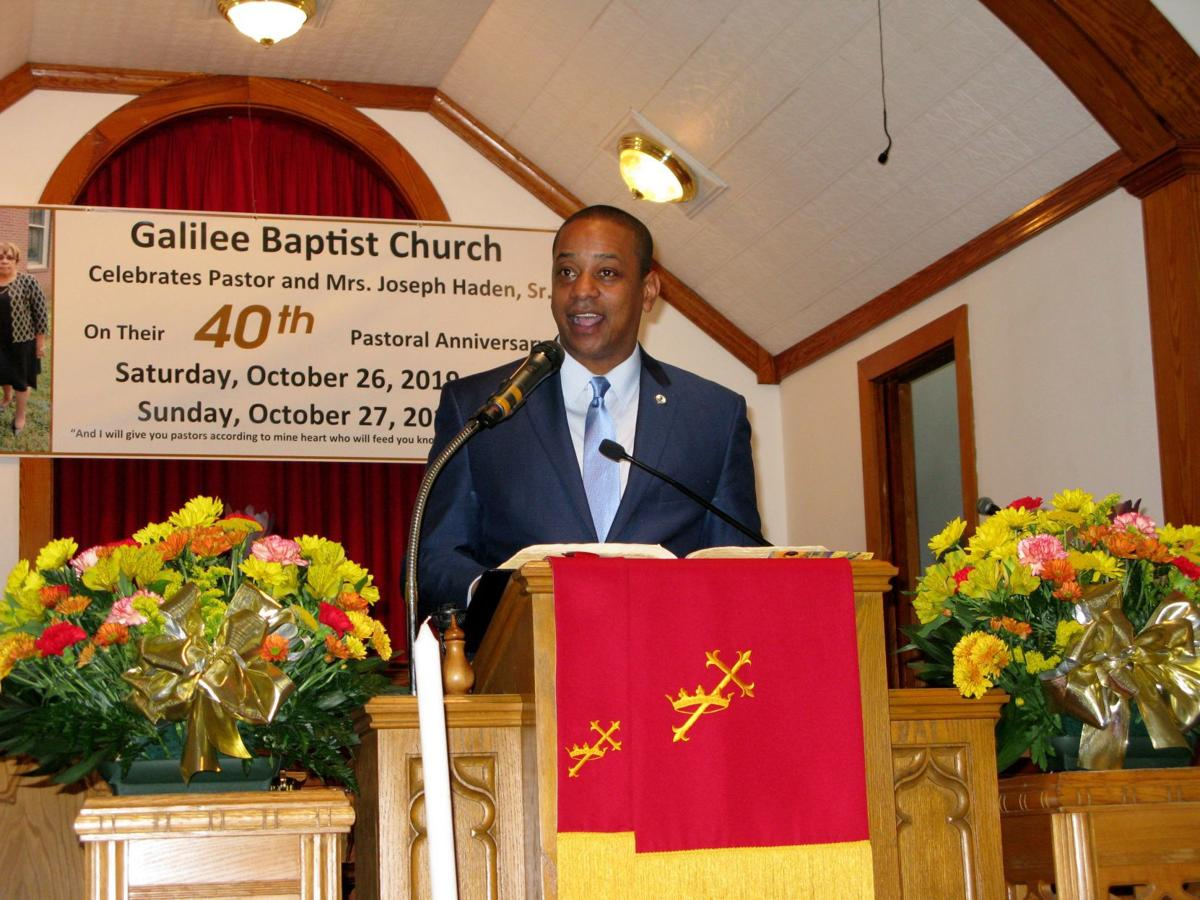 Lt. Gov. Fairfax addressing Galilee congregation