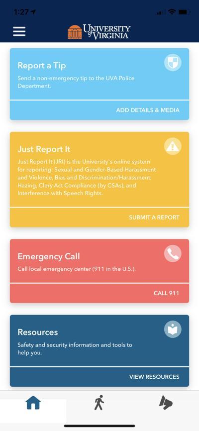 UVa safety app