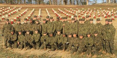 WILDCAT BATTALION: Cadets clean up at Quantico National Cemetery