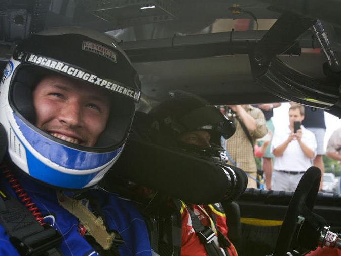 PHOTOS:  Earnhardt takes Redskins players for a ride