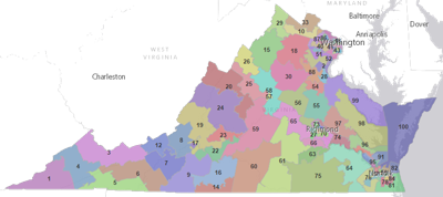 MAP: Virginia's legislative districts