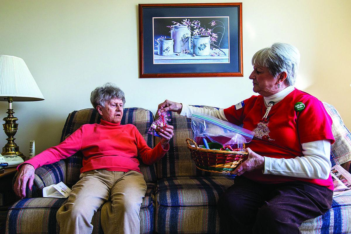Volunteers deliver Christmas to senior living centers