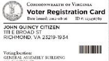 PHOTO: Voter registration card