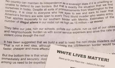 White supremacist fliers upset Spotsylvania residents