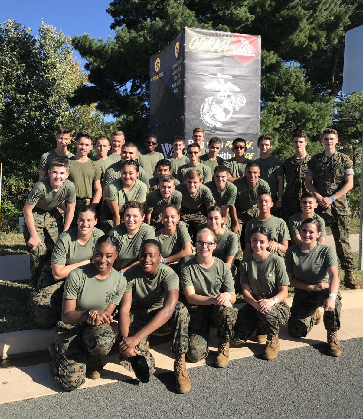 Wildcat Battalion cadets support runners at regional races