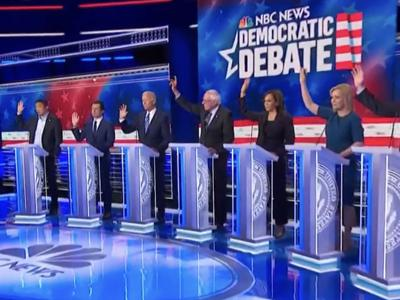 PHOTO: Democratic debate