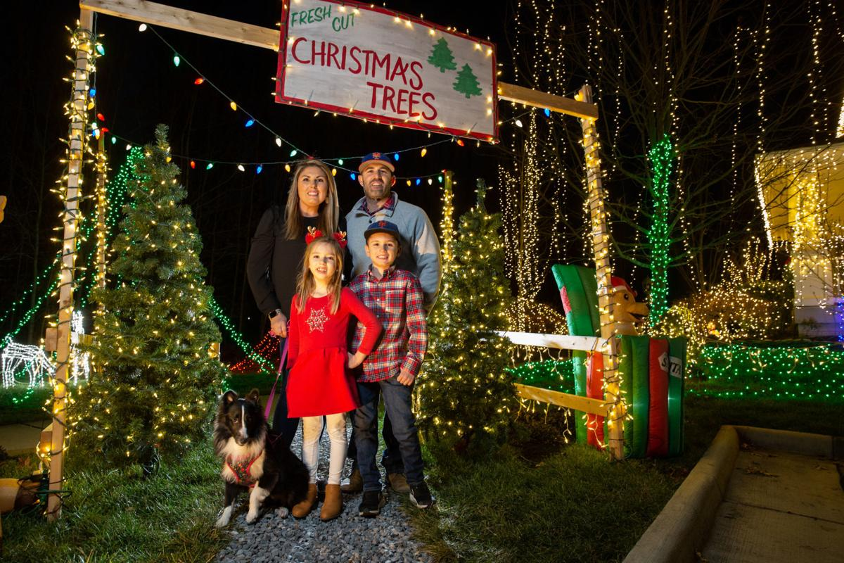 Open Christmas Day 2020 Central Park Fredericksburg City family's bright light display in Idlewild is this year's