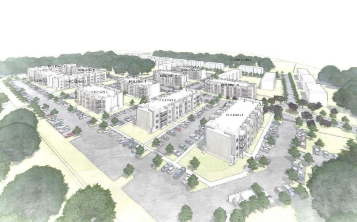 Architectural rendering of Mainline residential development