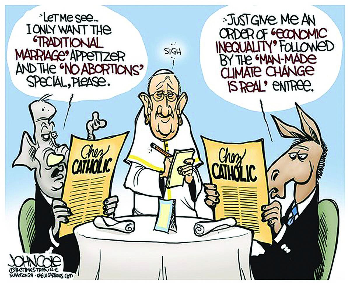 Letter Editorial Cartoon Distasteful But Catholic