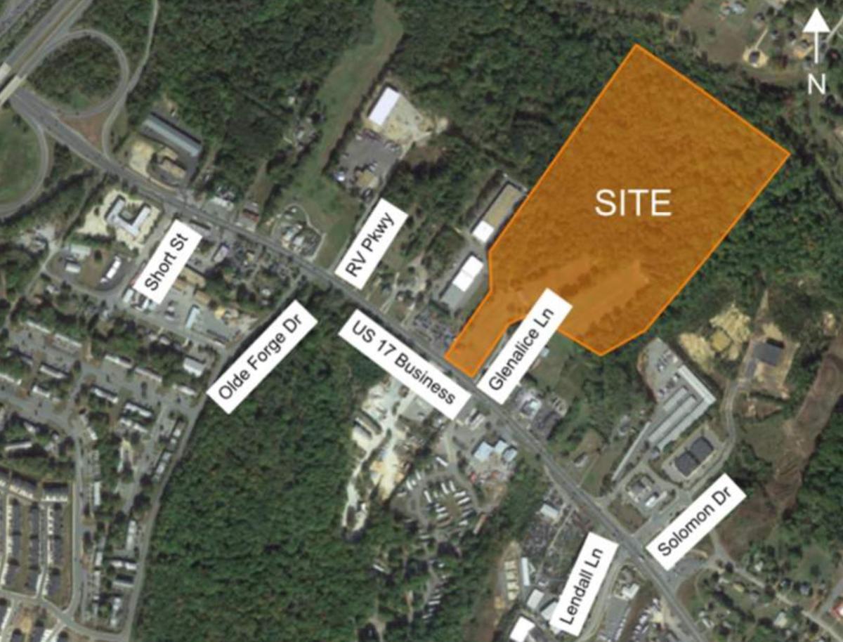 Site plan for Mainline residential development