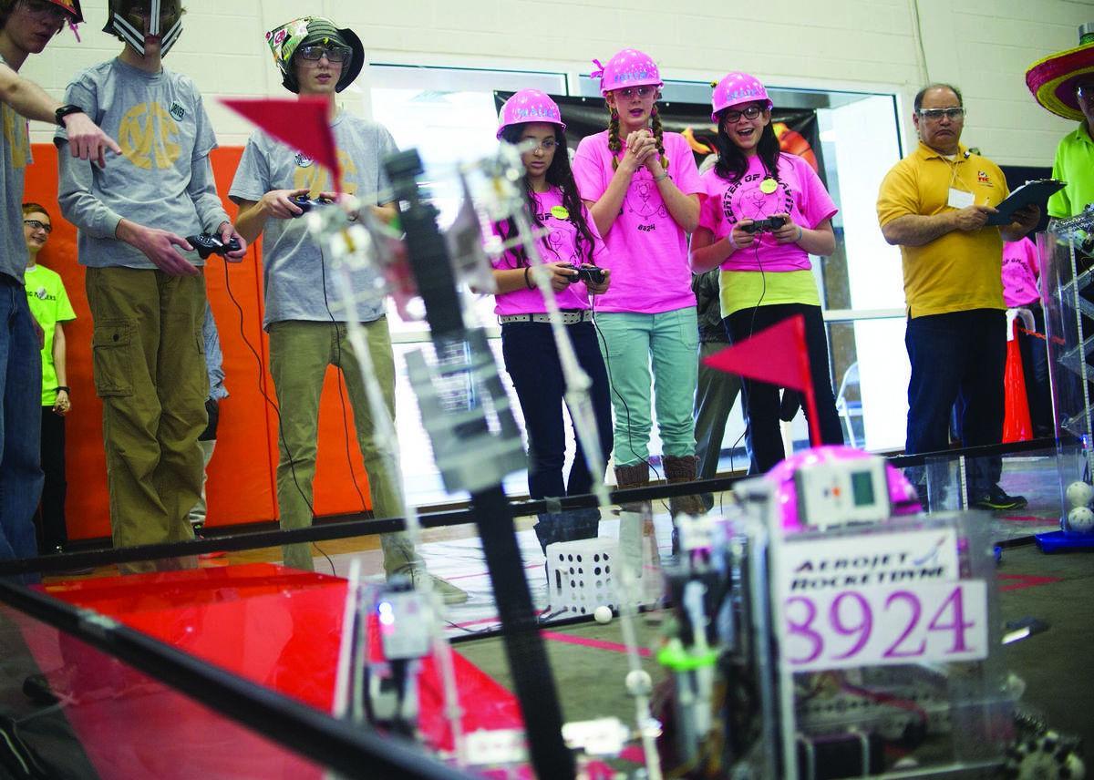 Robotics tournament challenges young minds