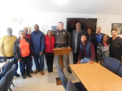 Culpeper County Sheriff's Deputy O.D. Brugoto and members of Beulah Baptist Church, Rixeyville