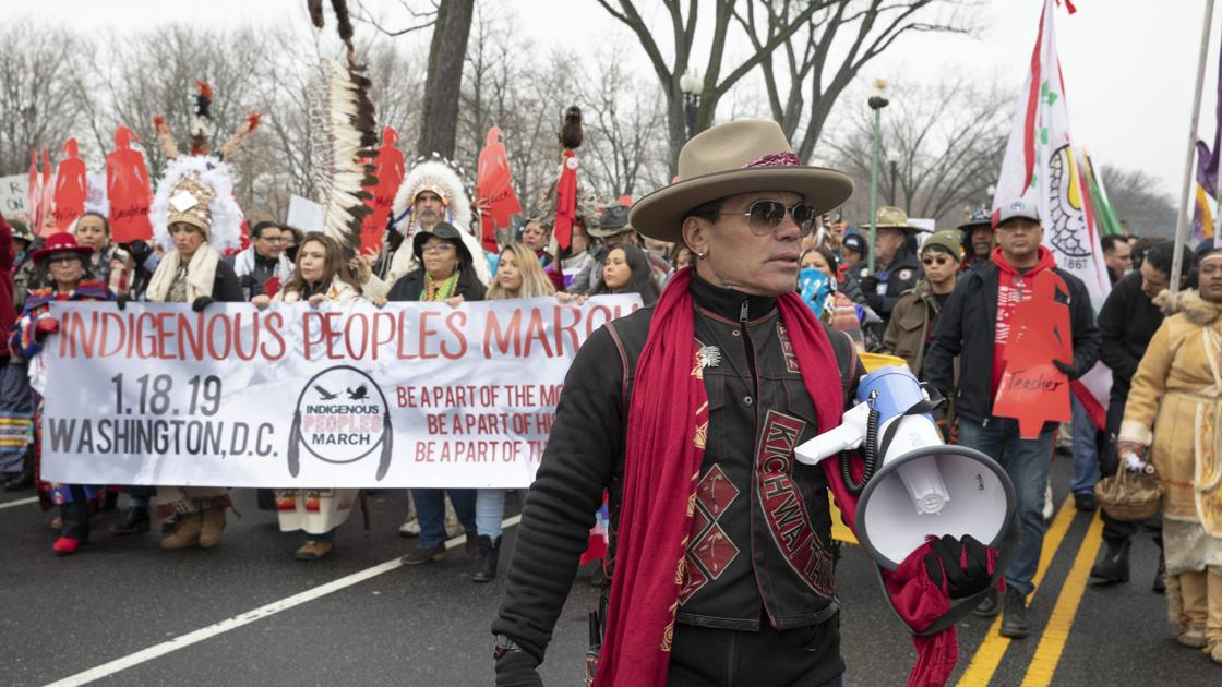 First Indigenous Peoples March takes place in Washington DC