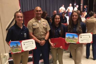 Mountain View High School Marine Corps JROTC cadets attend Summer Leadership and Character Development Academy at Quantico