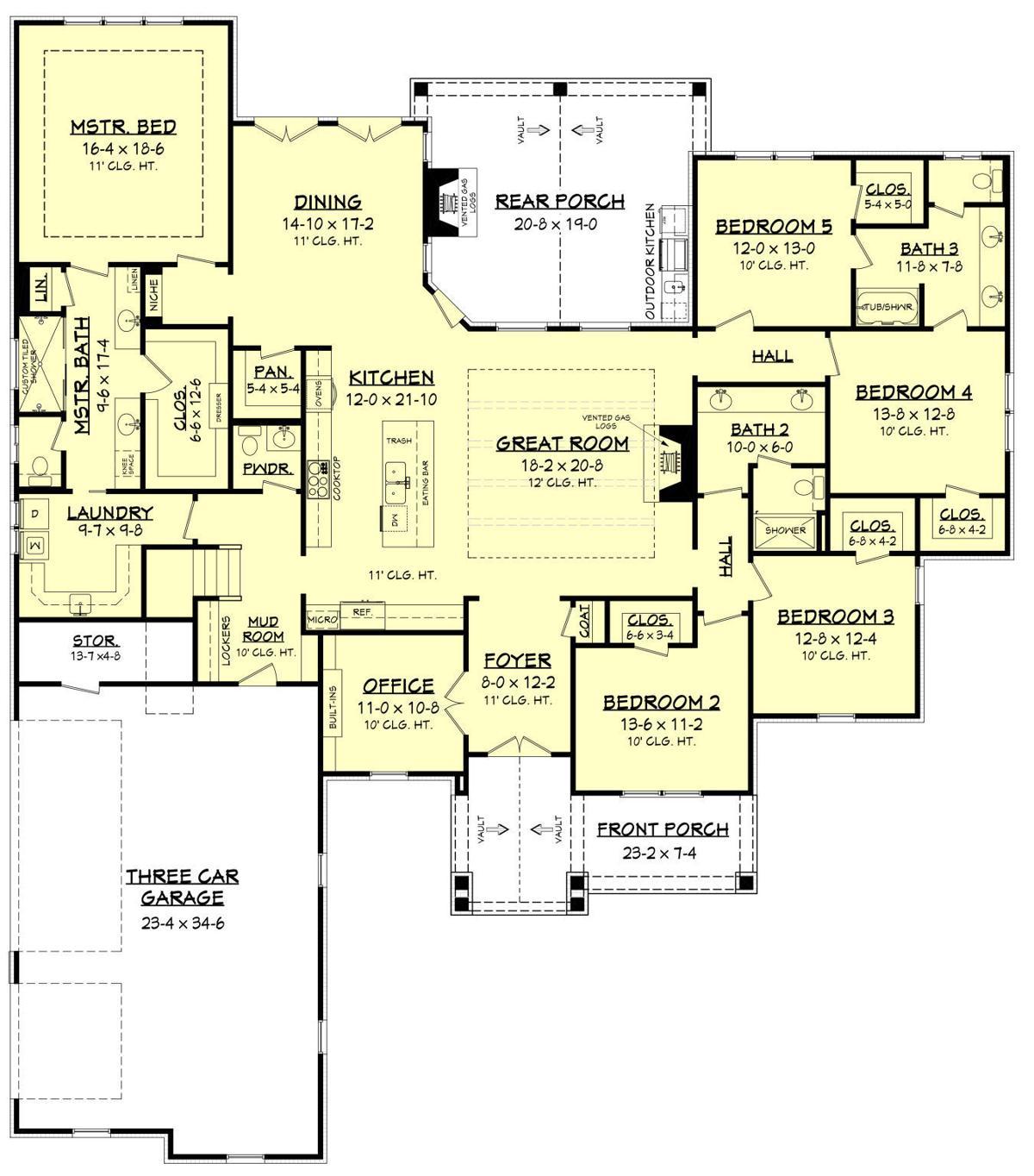 3311-S Basement Floor Plan