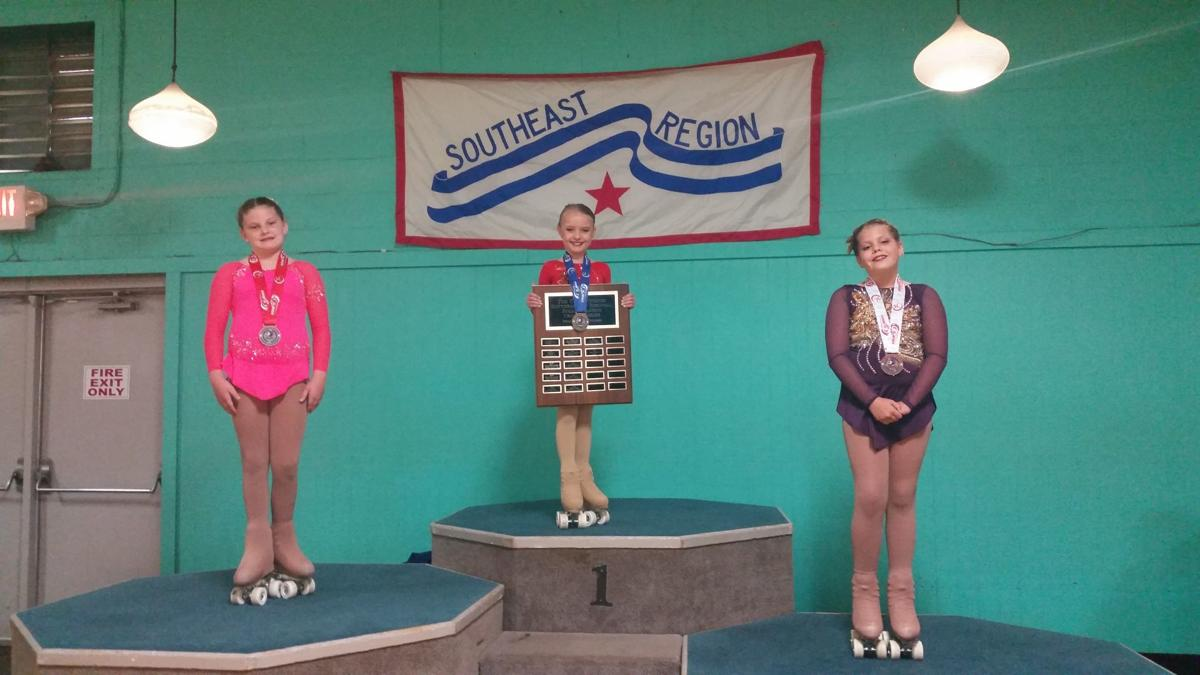 ON THE PODIUM: Roller skater wins gold at regional championship