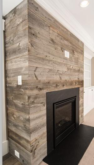 Majority Grey Barn Siding Fireplace Wall