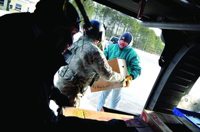 Guard delivers provisions to ice-bound Chesapeake Bay island
