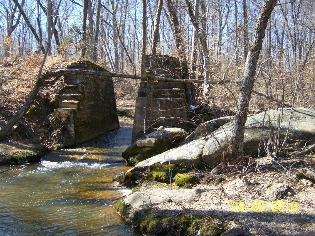 VCR trail bridge site