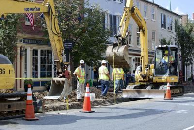 PHOTO: Replacing water lines