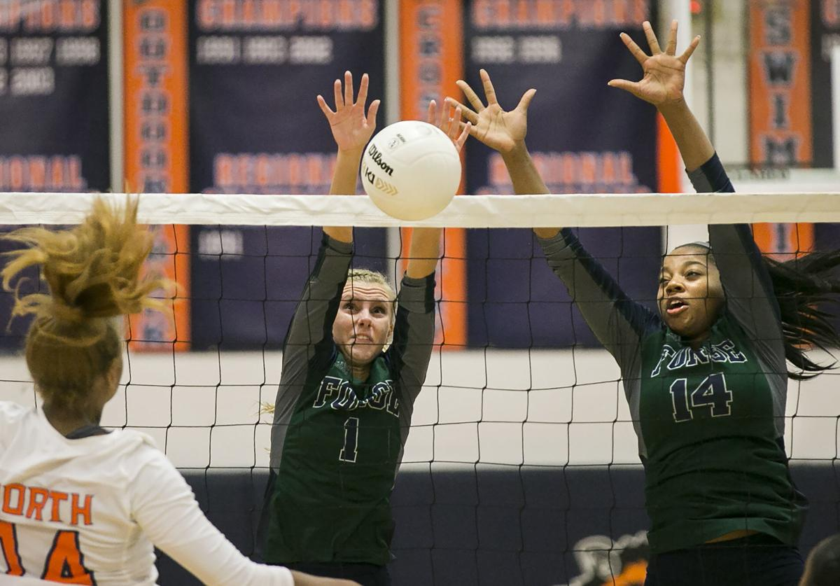 Colonial Forge at North Stafford volleyball