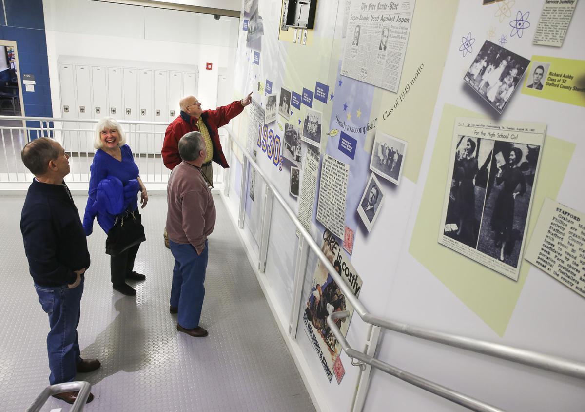 Stafford High School history panels