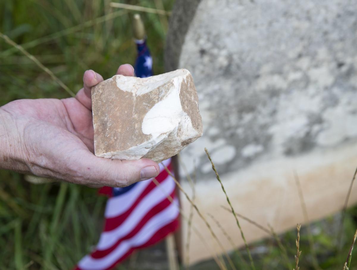 Cemetery damage