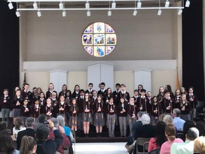 CEREMONY: Holy Cross Academy students inducted into honor society