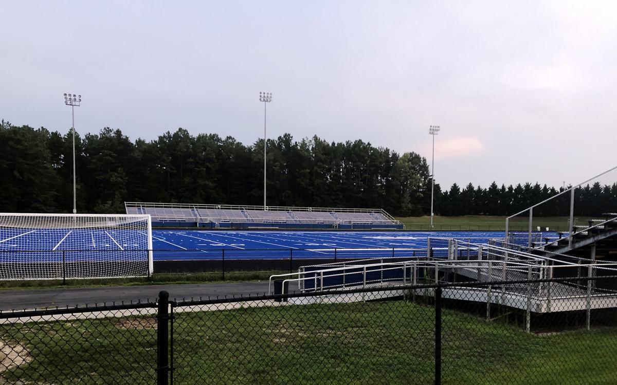 PHOTO: Blue turf football field
