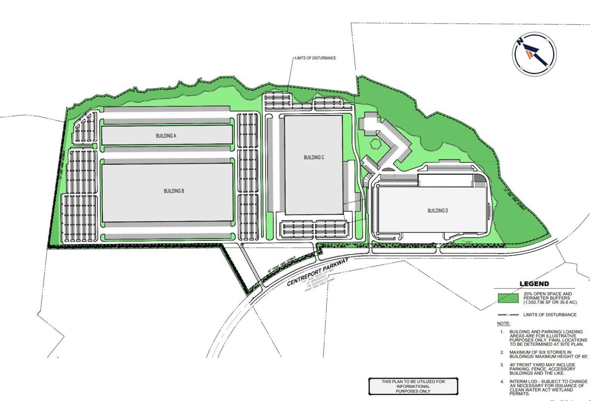 Proposed warehouse near Stafford Regional Airport