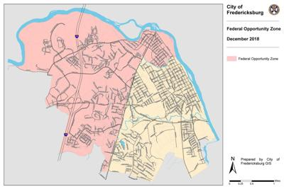 MAP: Opportunity zones in Fredericksburg