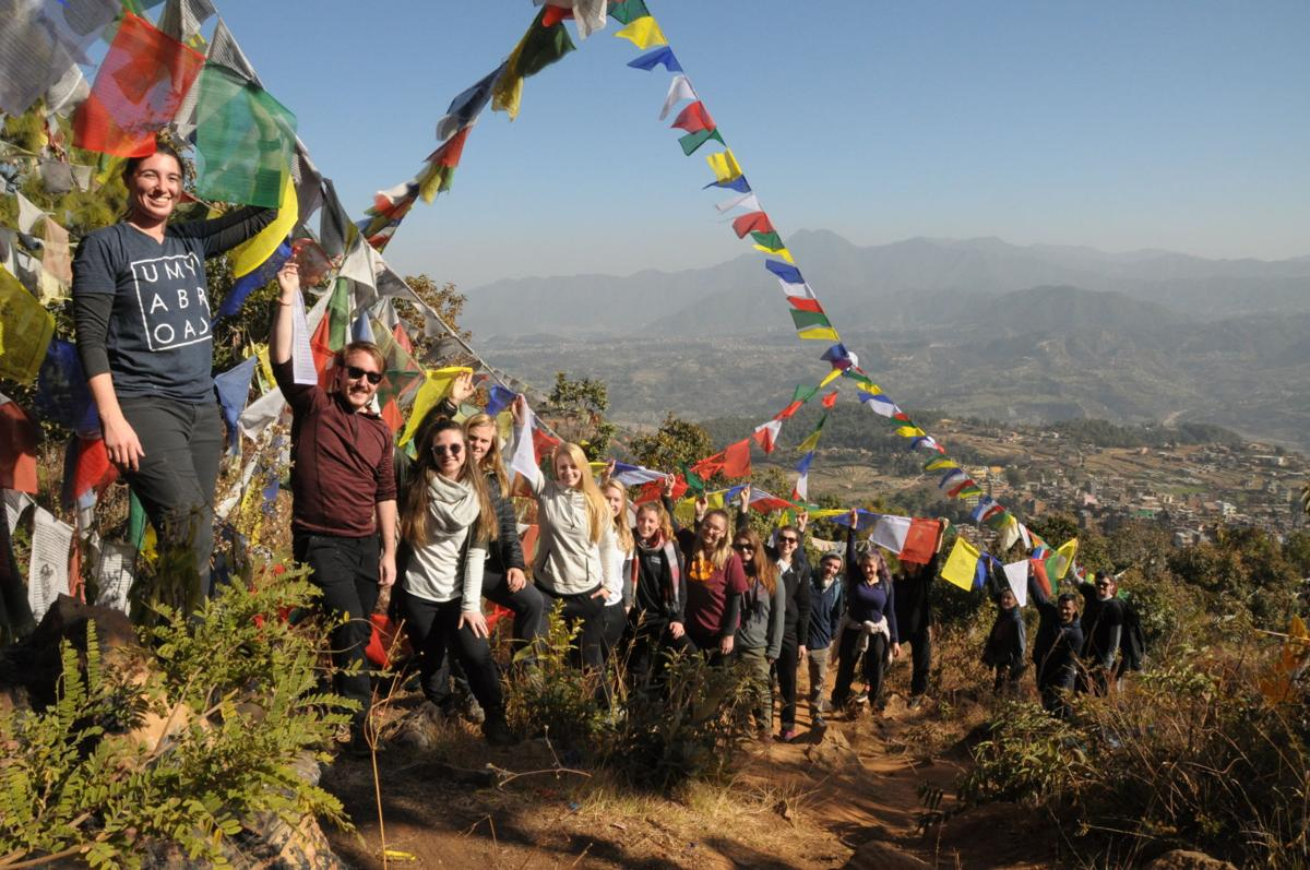 UMW students in Nepal in 2018