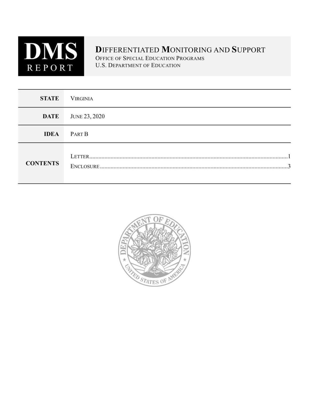 VDOE Monitoring Report