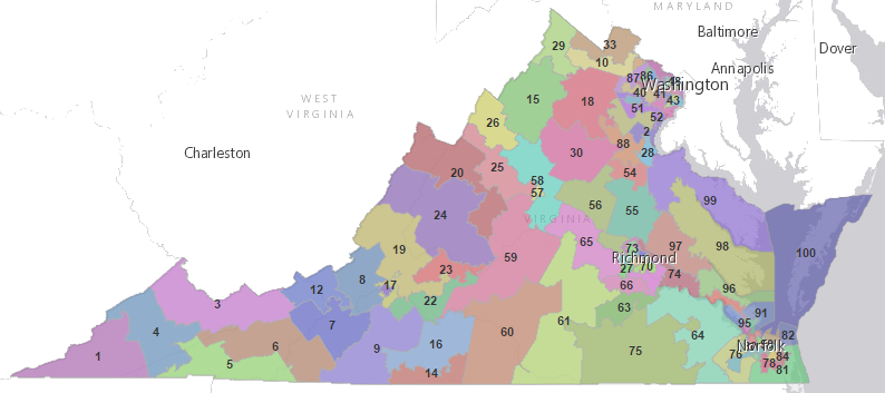 PHOTO VA legislative districts