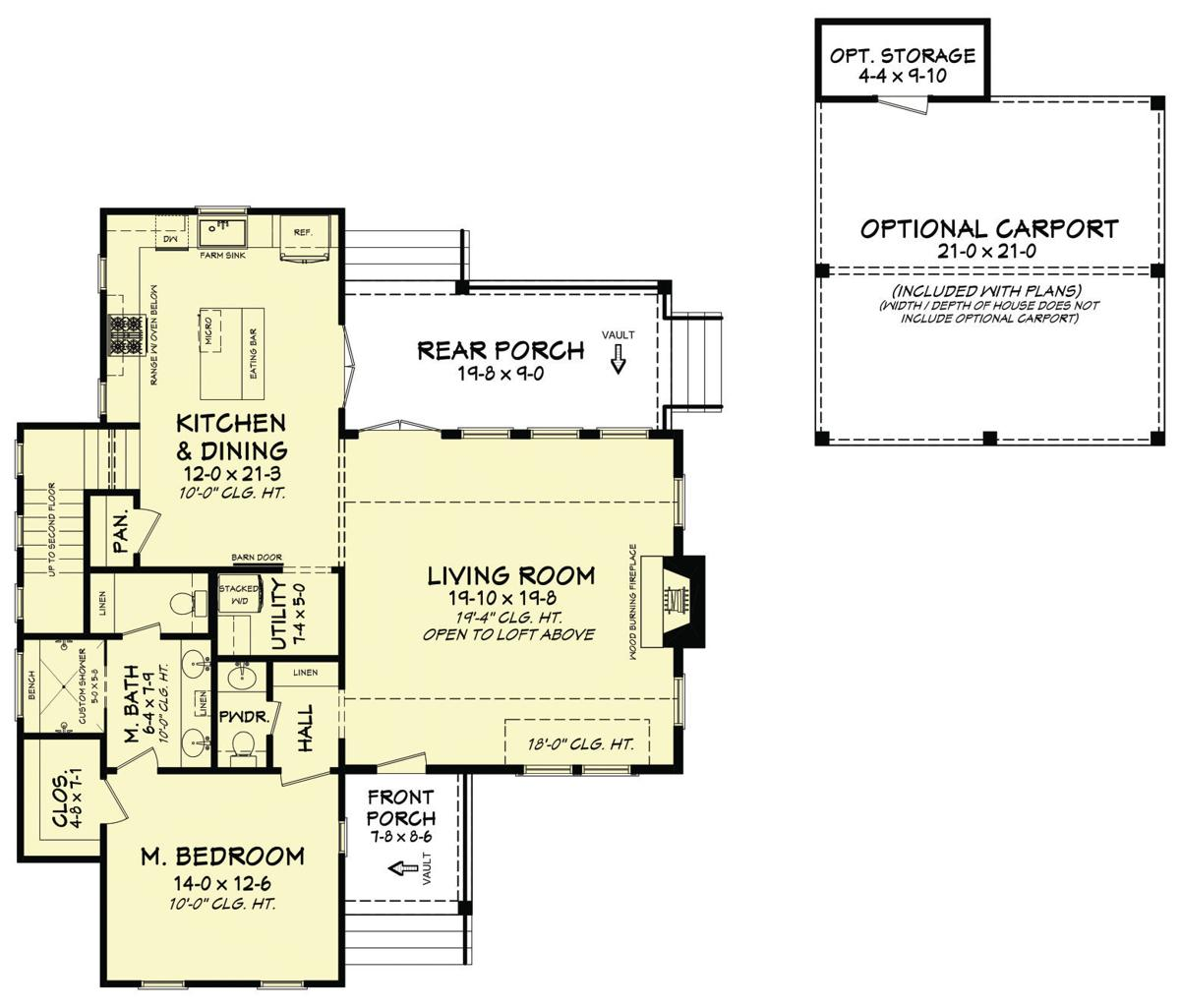 280-015 FLOOR PLAN - STAIR OPTION 4