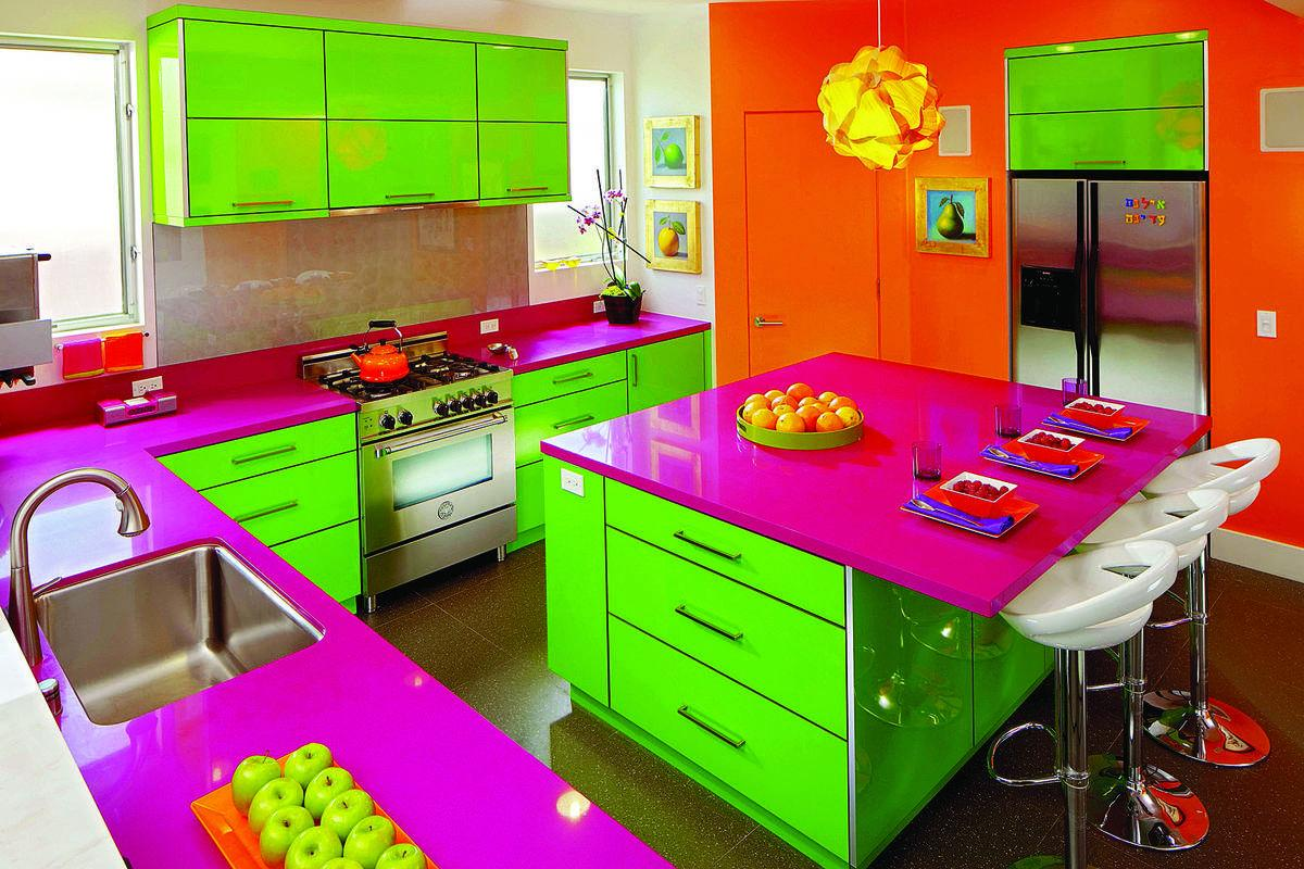 Kitchen Color Goes To The Extreme Features