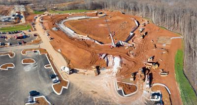 Fredericksburg stadium construction Jan. 2020