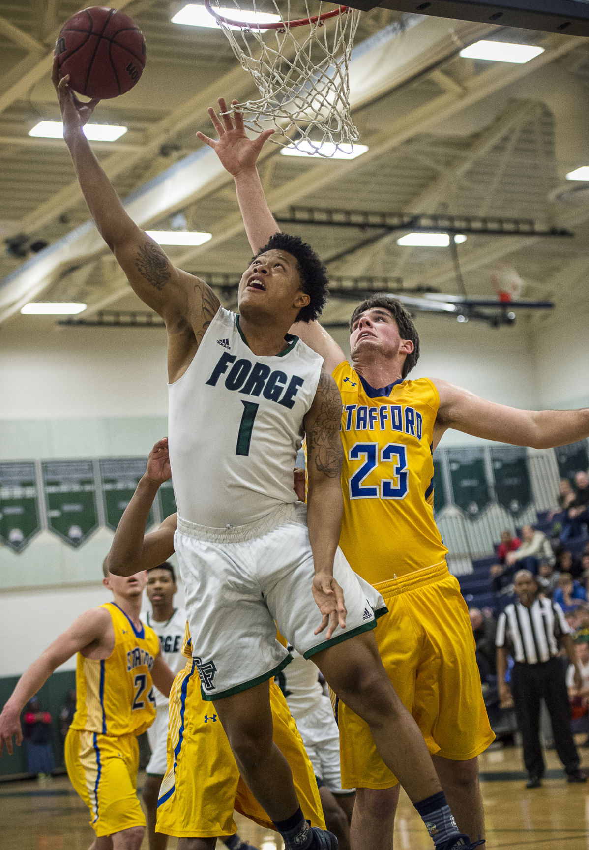 Stafford at Colonial Forge boys basketball