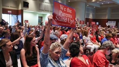 PHOTO: Parents protest